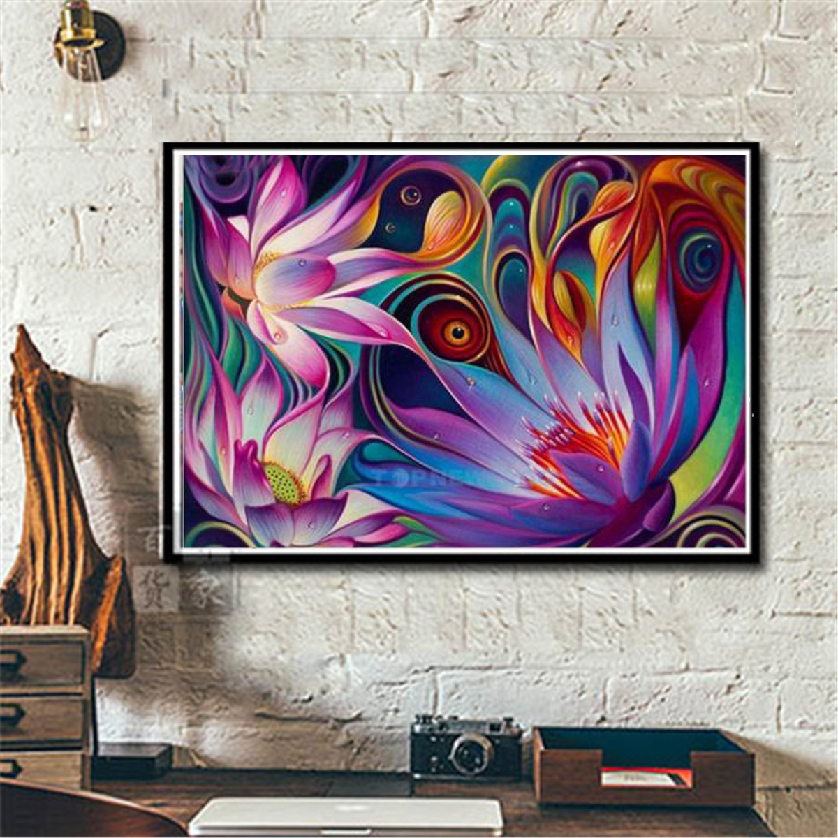 Colorful 5D Flower DIY Full Diamond Painting Embroidery Cross Craft Stitch Decor