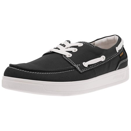 - Men's Casual Classic Boat Shoes Lace Up Loafer Slip-On Shoes Fludow Black Size 5