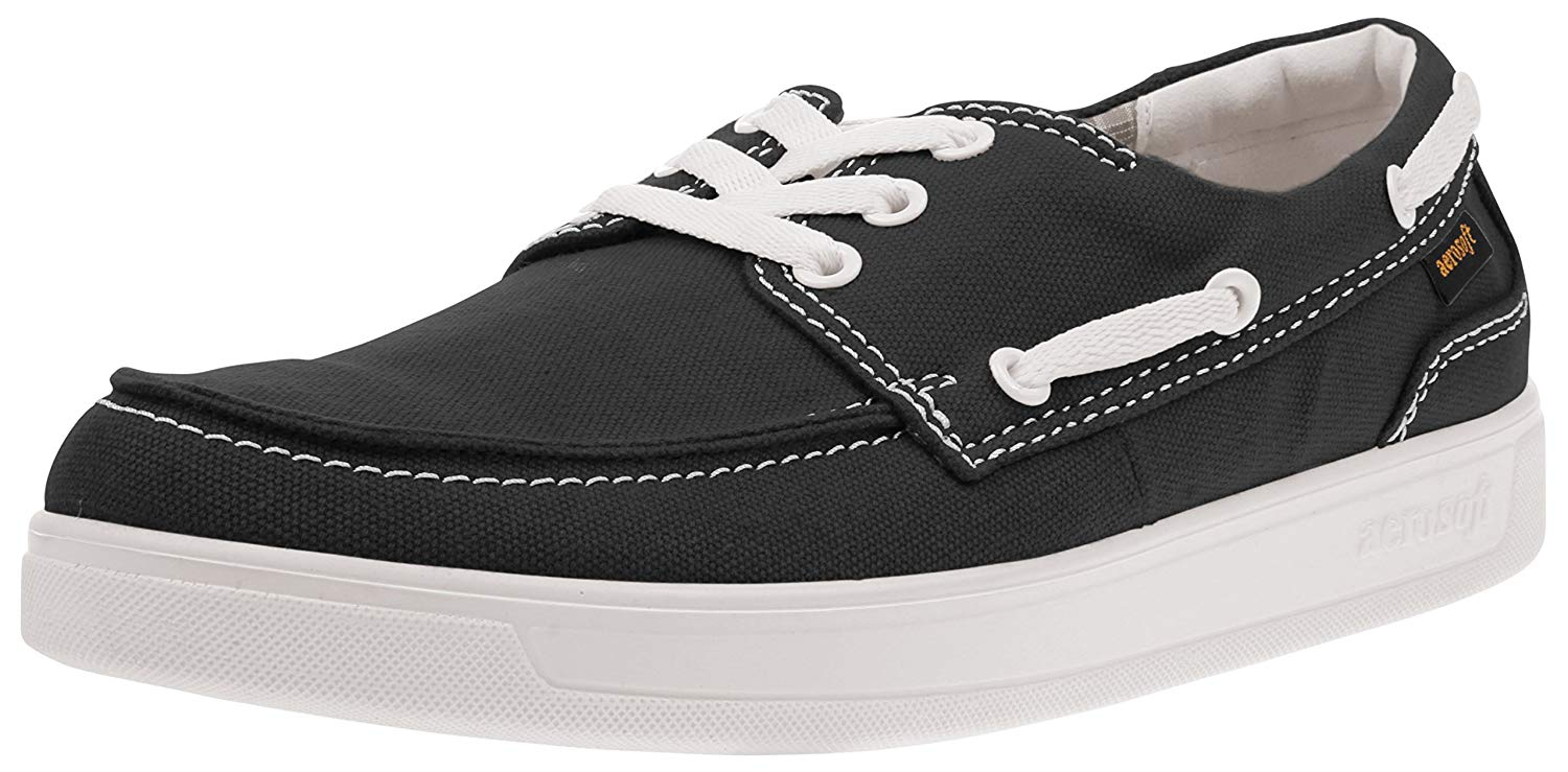 Men\u0027s Casual Classic Boat Shoes Lace Up Loafer Slip-On Shoes Fludow Black  Size 5