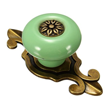 Vintage Europe Ceramic Door Knobs Cabinet Cupboard Drawer Pull -