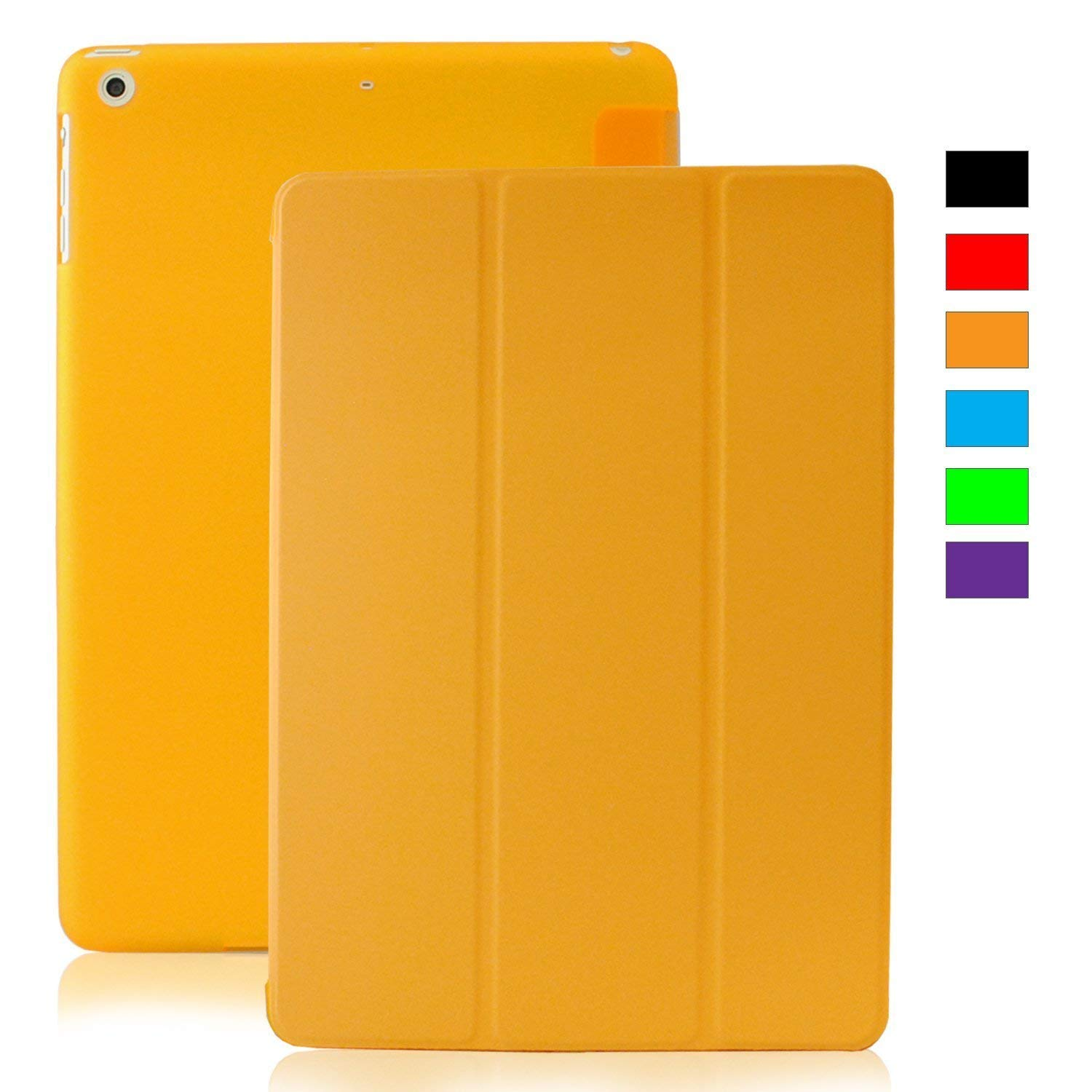 MIIU by Digiparts Ultra Thin Magnetic Smart Cover & Clear Back Case for Apple iPad Air(5th Gen), Yellow - image 5 of 5