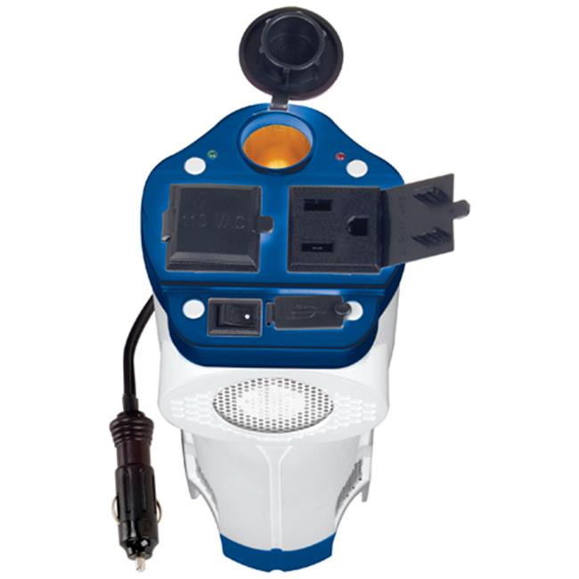 Rally Manufacturing 7636 Marine 200W Can Inverter with USB Port & 12V Outlet
