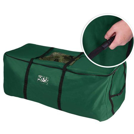 Christmas Tree Storage Bag, Heavy Duty Canvas Storage Container, Large for 9ft Artificial Tree - Green Heavy Duty Containers