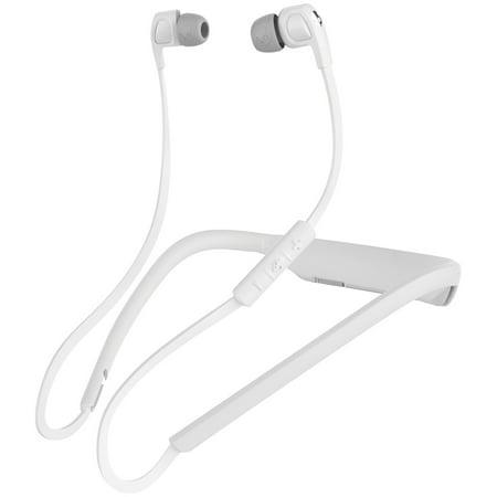 Skullcandy S2PGHW-177 In-Ear Smokin' Buds 2 Bluetooth Wireless Headphones with Microphone (White/Chrome) Skullcandy Silver Headphone