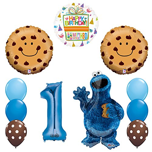 NEW! Sesame Street Cookie Monsters 1st Birthday party supplies