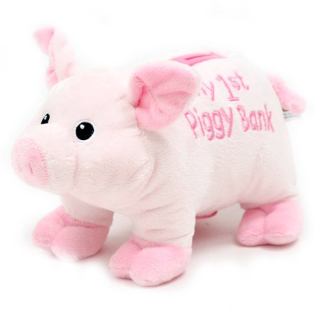 Easter Wal Mart 10  Babys First Piggy Bank  Pink