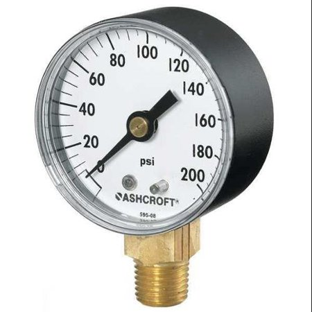ASHCROFT 1005PH Gauge, Pressure, 0-100 psi, (Ashcroft Pressure Gauges)