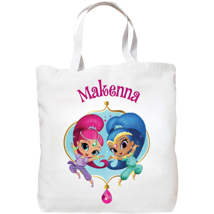 Personalized Shimmer and Shine Dazzling Duo Tote Bag, Pink