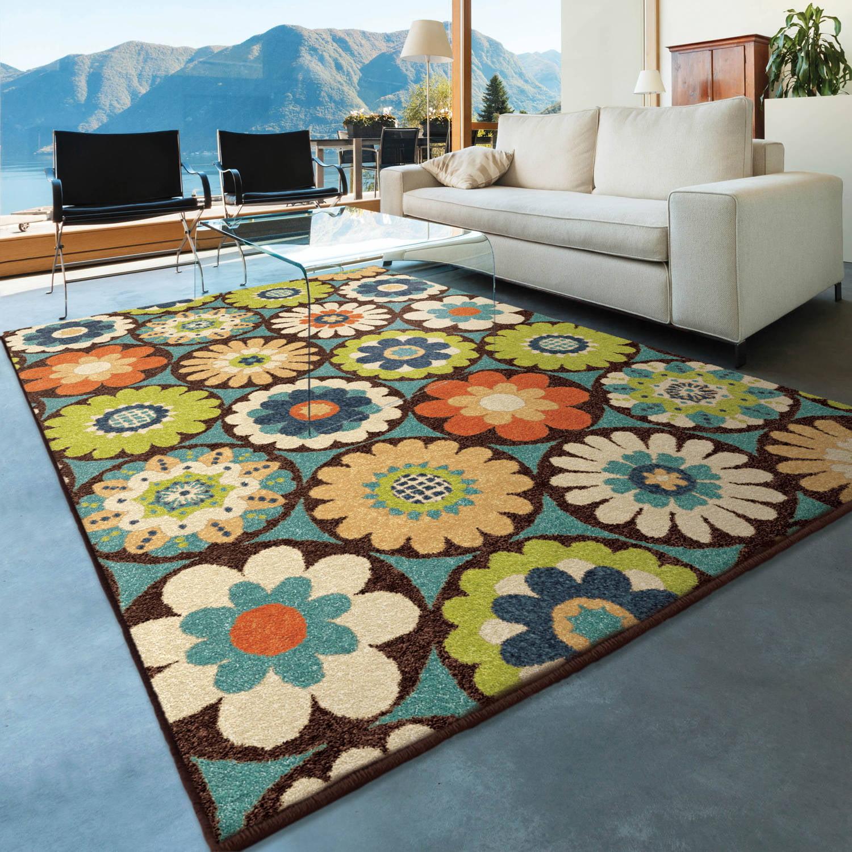Orian Rugs Indoor/Outdoor Bright Kilbury Multi Colored Area Rug    Walmart.com