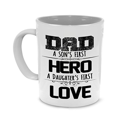 My Hero Father Gifts to Dad from Daughter and Son - Fathers Day, Birthday Coffee
