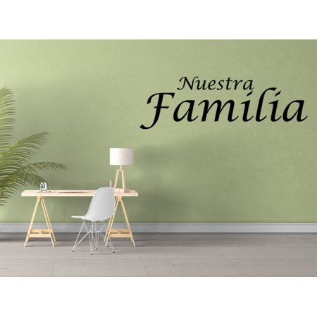 Vinilo Decorativo Para Pared Nuestra Familia Wall Stickers Decal SQ64