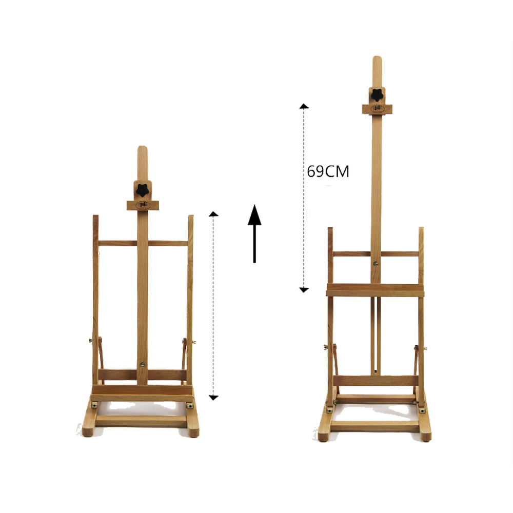 "Zimtown 42"" to 69"" Height Adjustable Easel Stand, Folding Portable Beechwood H Frame Deluxe Studio Easel, for Artist Drawing, for Studio Painting Display - image 1 of 9"