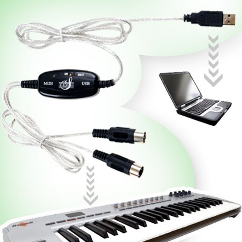 LivEditor USB MIDI Cable Converter PC to Music Keyboard - image 1 de 5