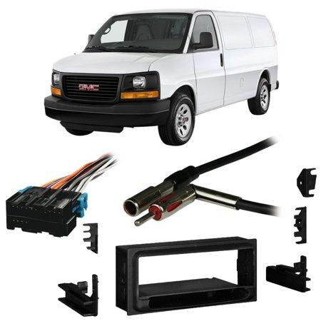 Fits GMC Savana Full Size Van 96-00 Single DIN Harness Radio Install Dash -