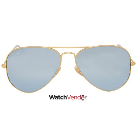 8d2f81df80eadc Ray Ban Aviator Polarized Silver Flash Sunglasses RB3025 112 W3 58 - image  1 of ...