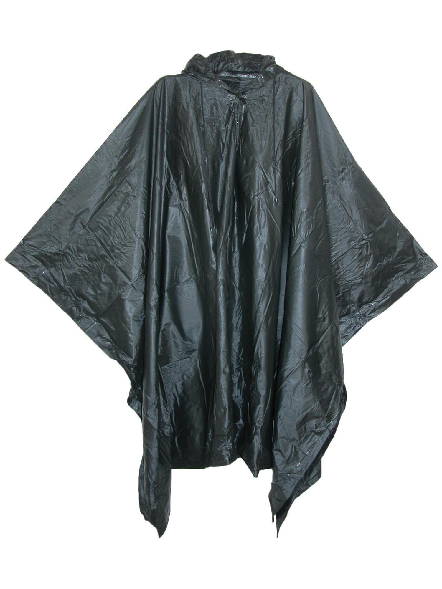 MEDIUM PONCHO FOR RAIN WITH HOOD UNISEX//BLUE NAVY HEAVY DUTY AGES 12 - Adults