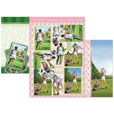 Fun In The Sun Luxury A4 Decoupage Set-Game, Set, Match & Tee Time