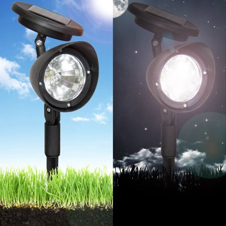 Best Choice Products Set/8 Outdoor Solar Power Pathway Lamps w/ 4 LED