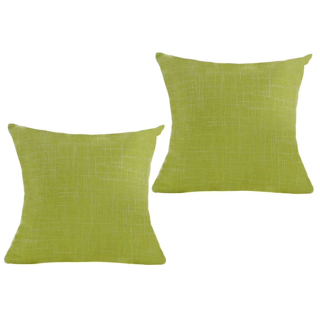 Decorative Square Throw Linen Cushion Cover Case 18 x 18 Inch Green Set of 2 - image 7 de 7