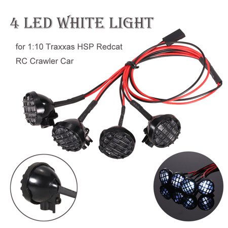 Iuhan 4 LED White Light with Lampshade for 1/10 1/8 Traxxas HSP RC Crawler Accessory