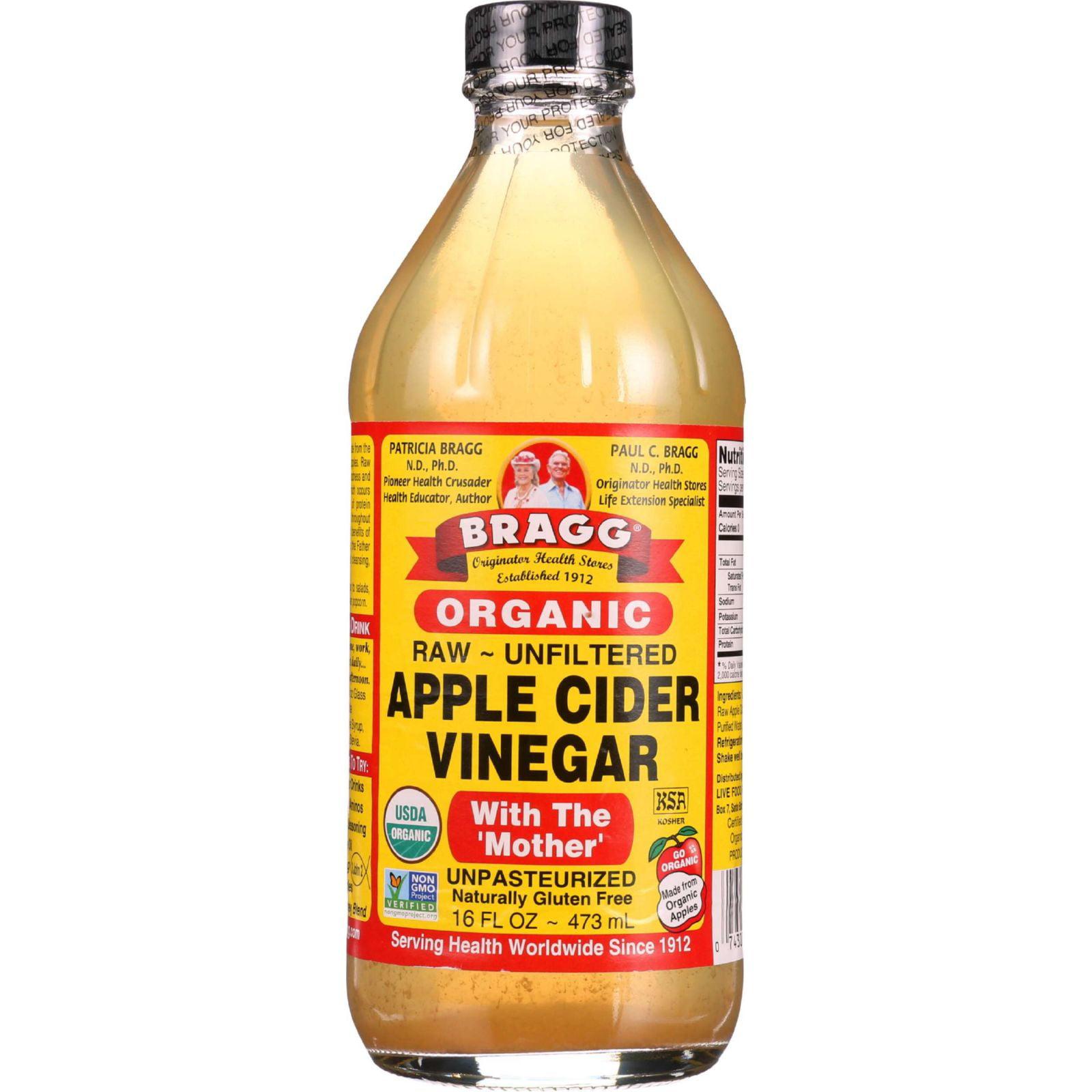 Bragg Apple Cider Vinegar Organic Raw Unfiltered 16 oz 1 each by