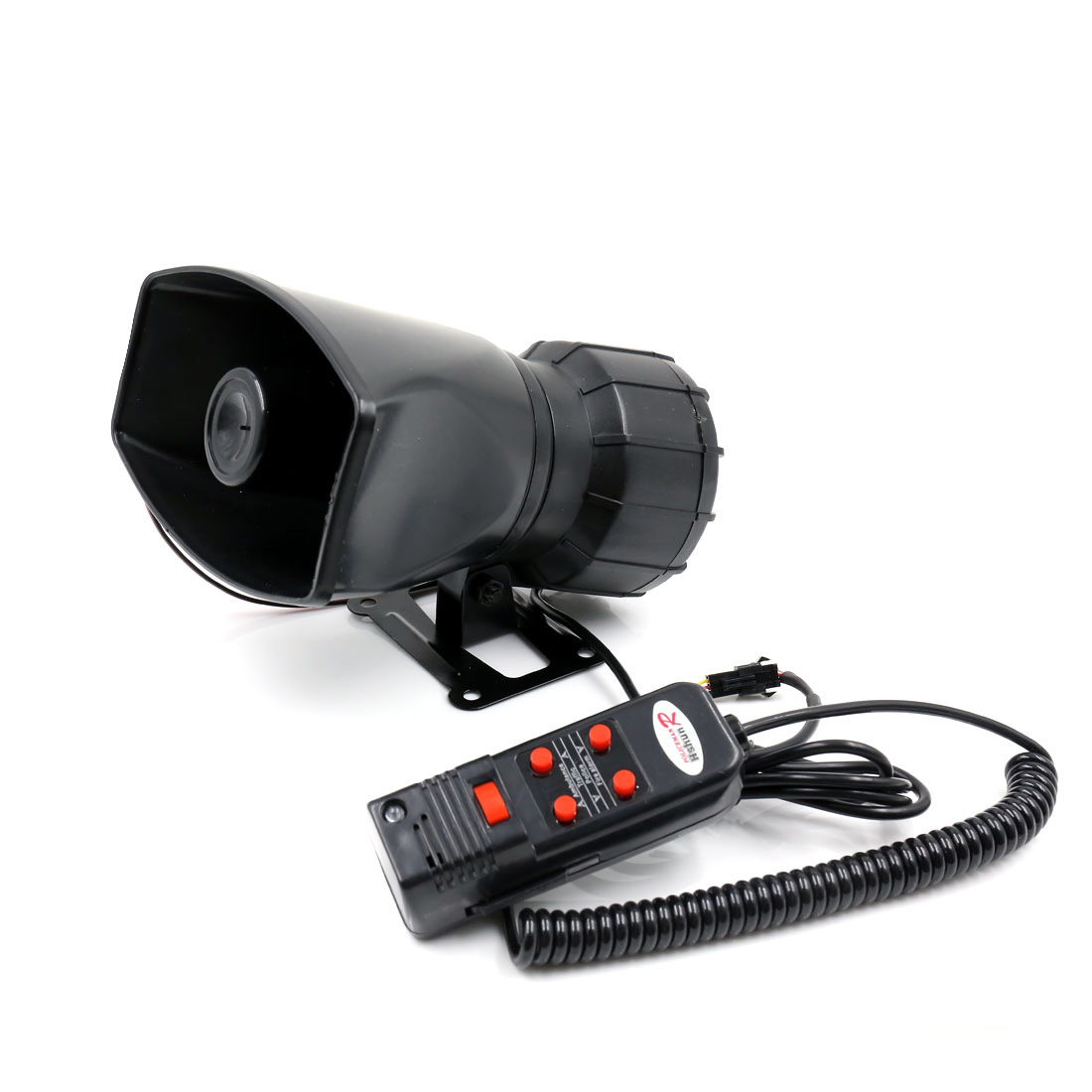 DC 12V 100W 300dB 5 Sounds Tone Auto Car Van Loud Air Horn Siren w Microphone
