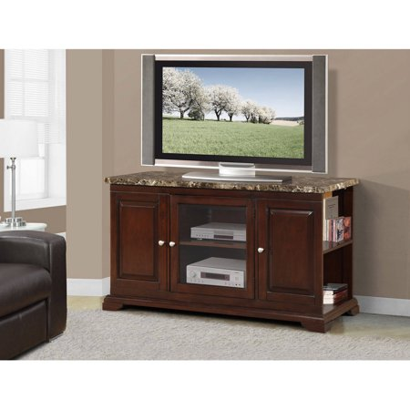 Manchester Wood Veneer TV Stand for TVs up to 55″, Espresso