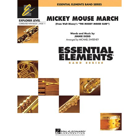 Hal Leonard Mickey Mouse March Concert Band Level 0.5 Arranged by Michael Sweeney (Mickey Mouse March)
