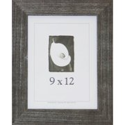 9x12 Farmhouse Barnwood Picture Frame w/Real Glass Charcoal