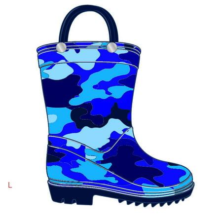 Storm Kidz Kids Boys Rainboots, Blue Camo Print Toddler 6