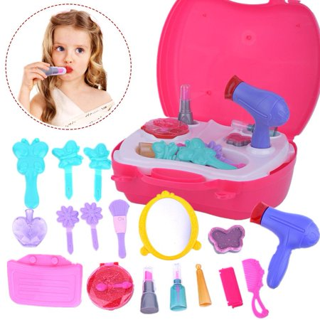 Knifun  Little Girls Kids Pretend Play Makeup Dressing Cosmetic Kit Learning Beauty Preschool Toys, Girls Makeup Toy, Kids Toy - Childrens Dressing Up
