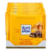 Ritter Sport Chocolate Bar With Cornflakes, 3.5 Oz (Pack Of 10)