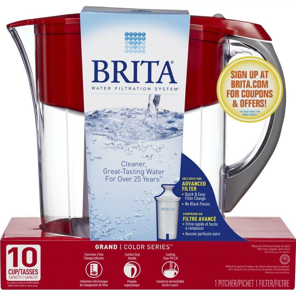 Brita Model Water Filter, Water Cleasner, with 1 Pitcher and 2 filters, 10 cup capacity (White)