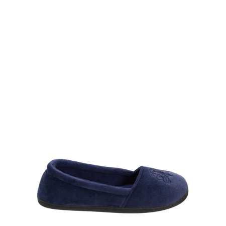 DF by Dearfoams Women's Velour Closed Back Slippers (Skylanders Slippers)