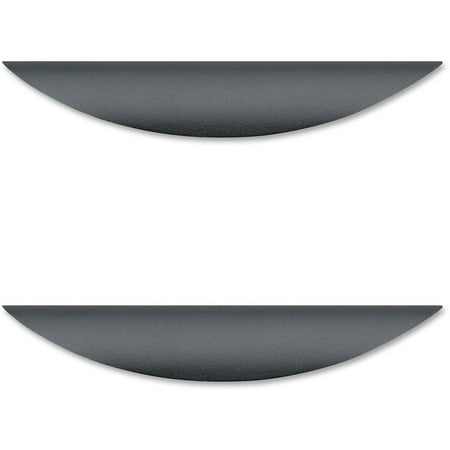 Lorell, LLR34347, Laminate Drawer Traditional Pulls, 2 / Pack, Black