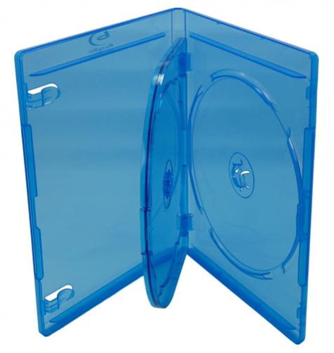 mediaxpo Brand 10 Standard Black Triple 3 Disc CD Jewel Case