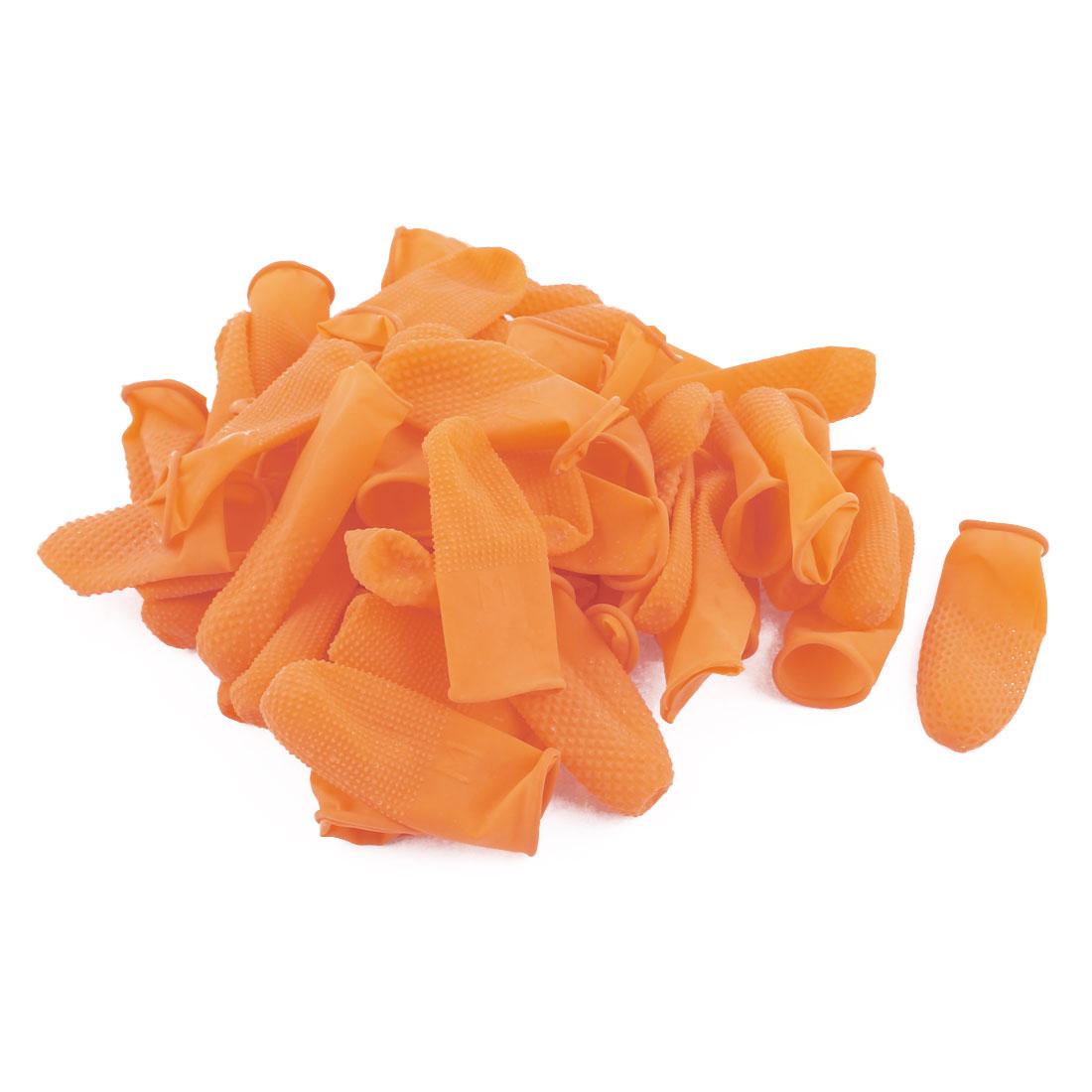 100pcs Antislip Fingertips Gloves Latex Rubber Finger Cots Antistatic Gloves