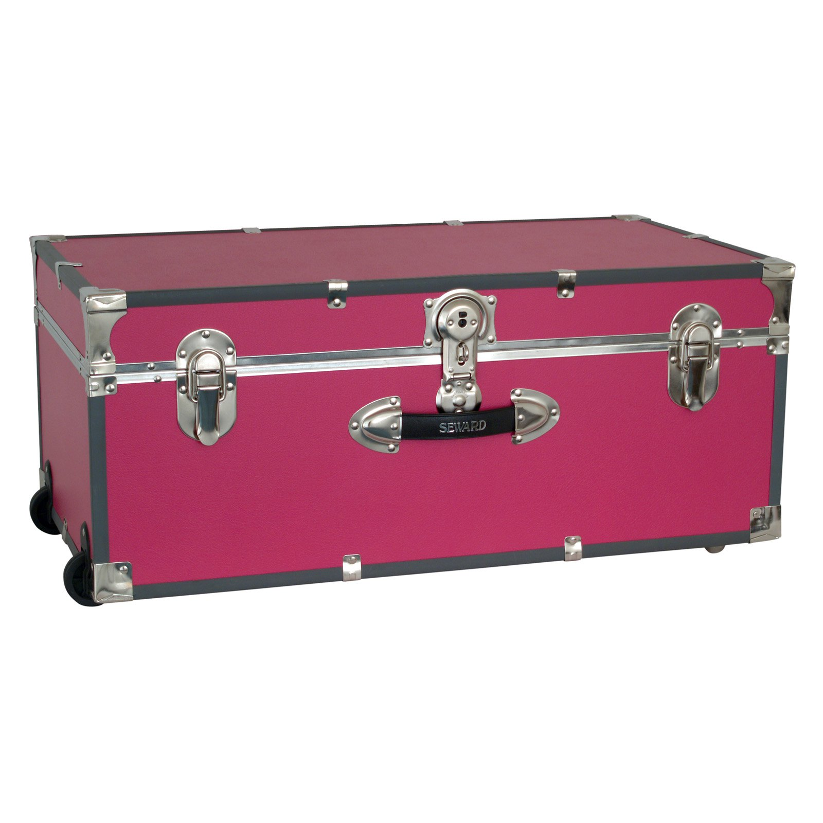 Locking Trunk with Wheels-Pink