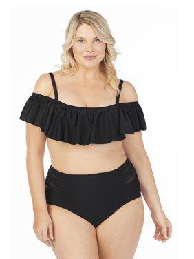 Product Image Island Soul Curve Juniors Plus Size Sundance Solids Spaghetti Tab  Side Pant Swim Bottom bcade0e1de187