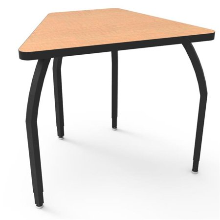 Elo Connect 8 Desk with Fusion Maple Laminate & 4 Junior Adjustable Smooth Silver Legs - 21-26 x 33 x 24 in.