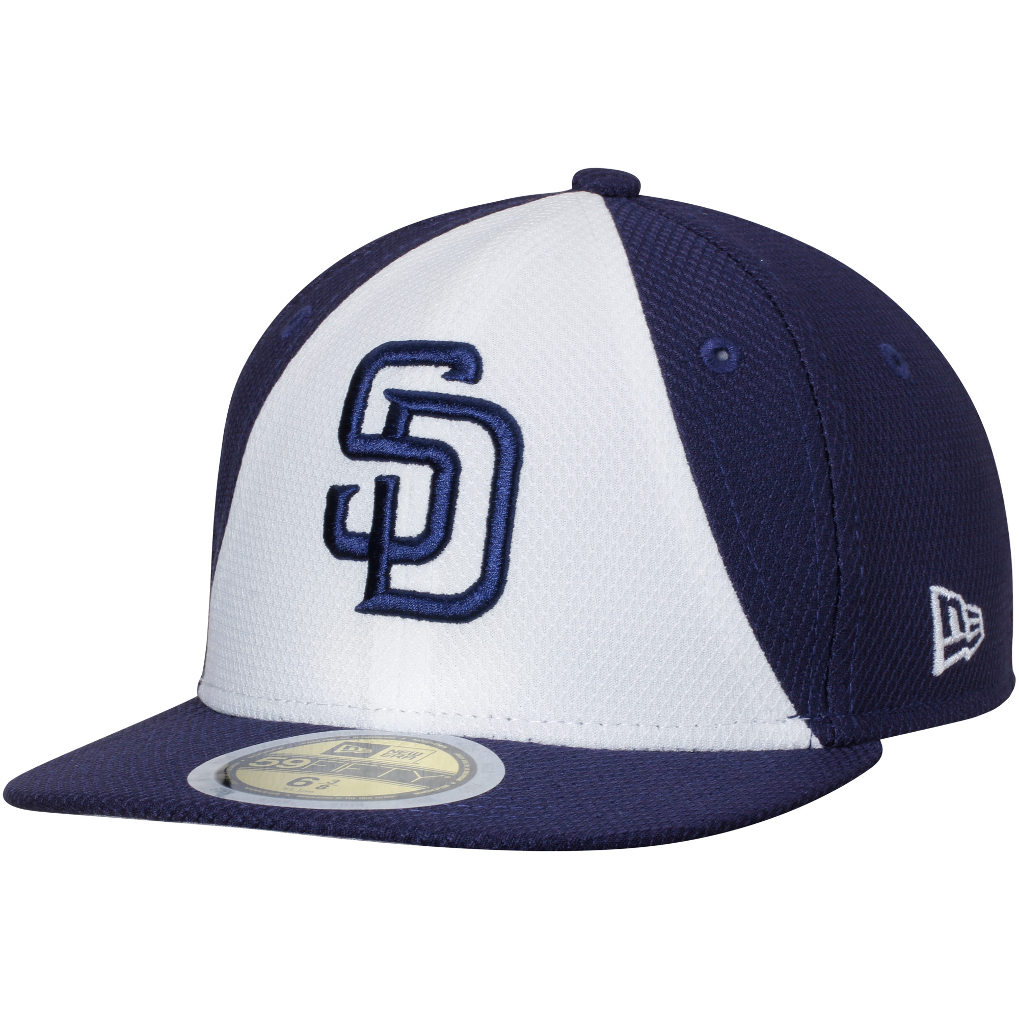 San Diego Padres New Era Youth Diamond Era 59FIFTY Fitted Hat - White/Navy