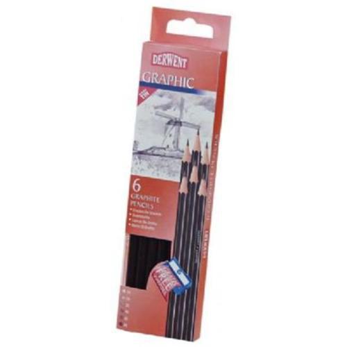Derwent - 6-Pencil Tin Set - Derwent Graphic 6 Set