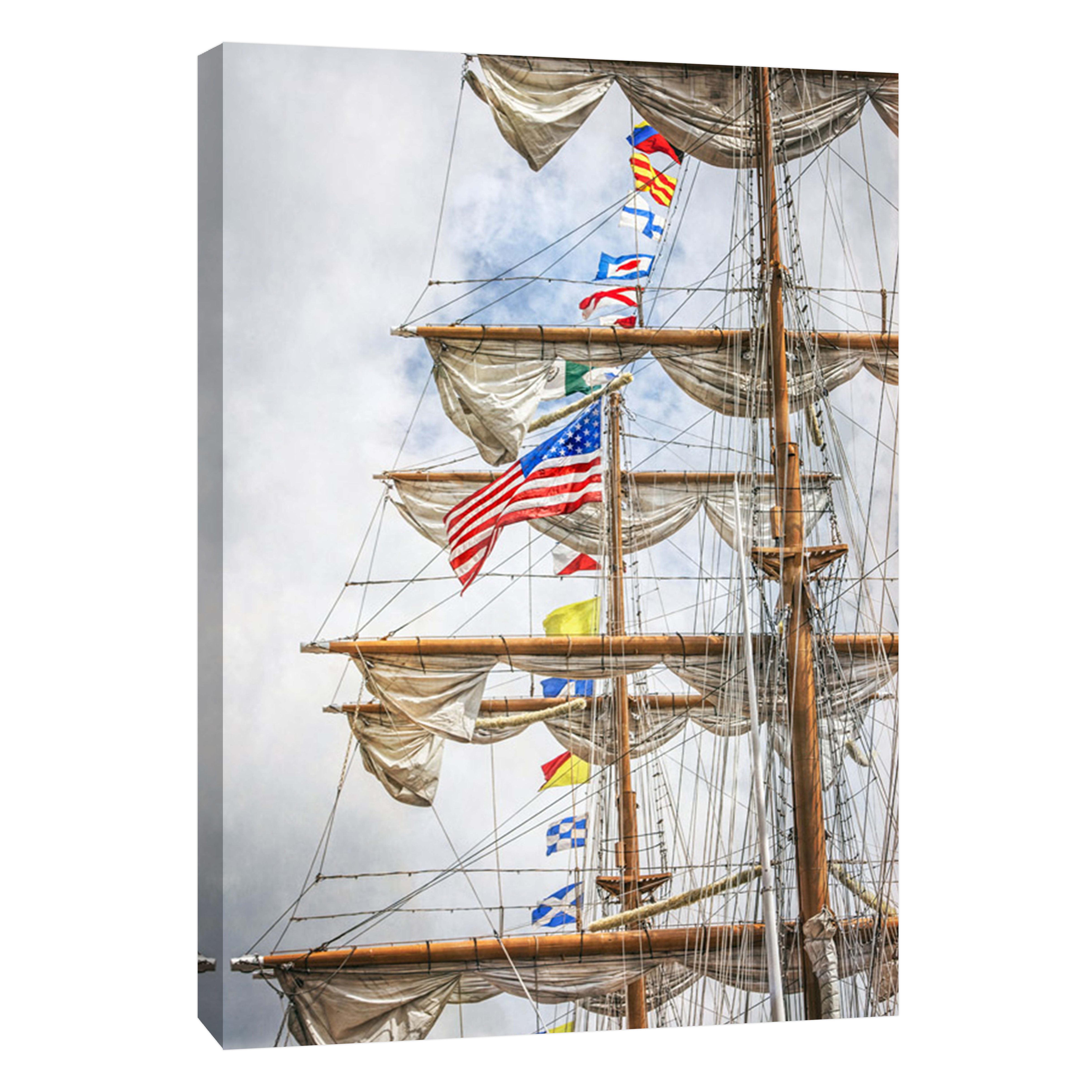 Ptm Images Tall Ship Mast Detail 16x20 Decorative Canvas Wall Art Walmart Com Walmart Com