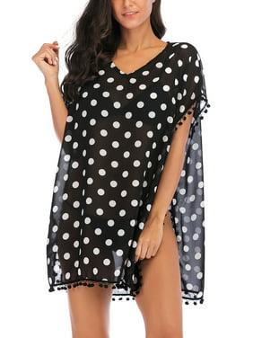 15acc7452cf56 Product Image Beach Bikini Cover up Wrap Women Swimwear V Neck Loose Fit  Short Dress with Tassels Boho