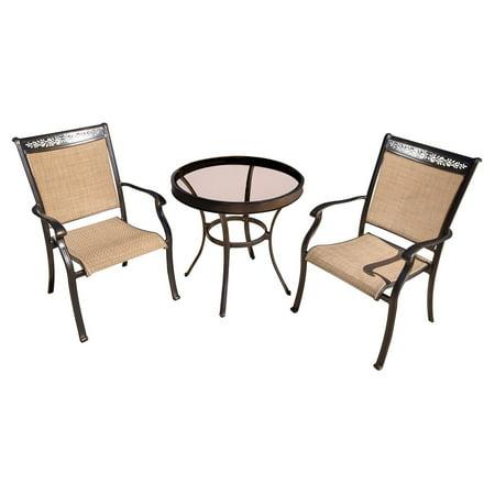 Hanover Fontana 3-Piece Outdoor Bistro Set