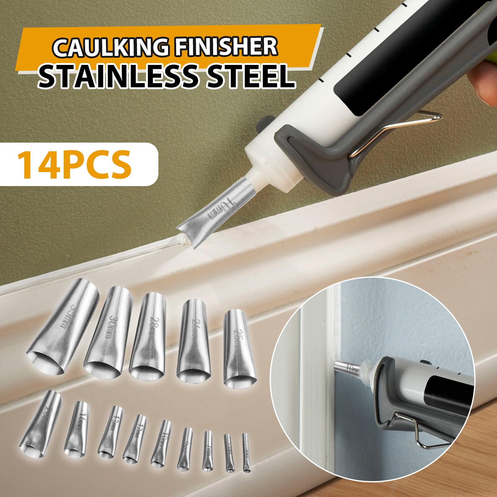 TSV 14PCS Caulking Finisher Kit, Caulk Nozzle Applicator ...