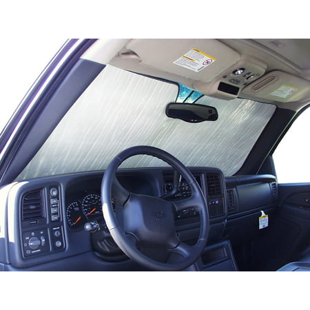 The Original Windshield Sun Shade, Custom-Fit for Chevrolet Silverado 1500 Truck (Extended Cab) 2007, Silver