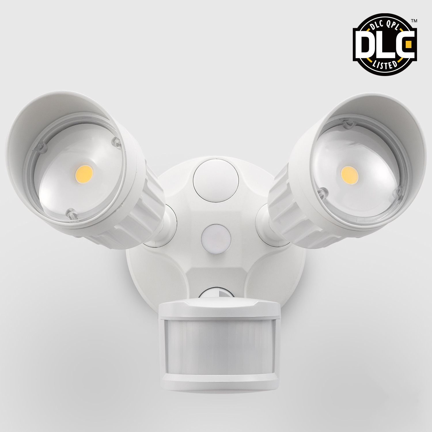 Two-Head Motion Activated LED Outdoor Security Light, Pho...