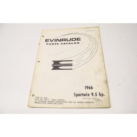 Evinrude 278777 1966 Parts Catalog Sportwin 9 5 HP 9622A 9623A QTY 1