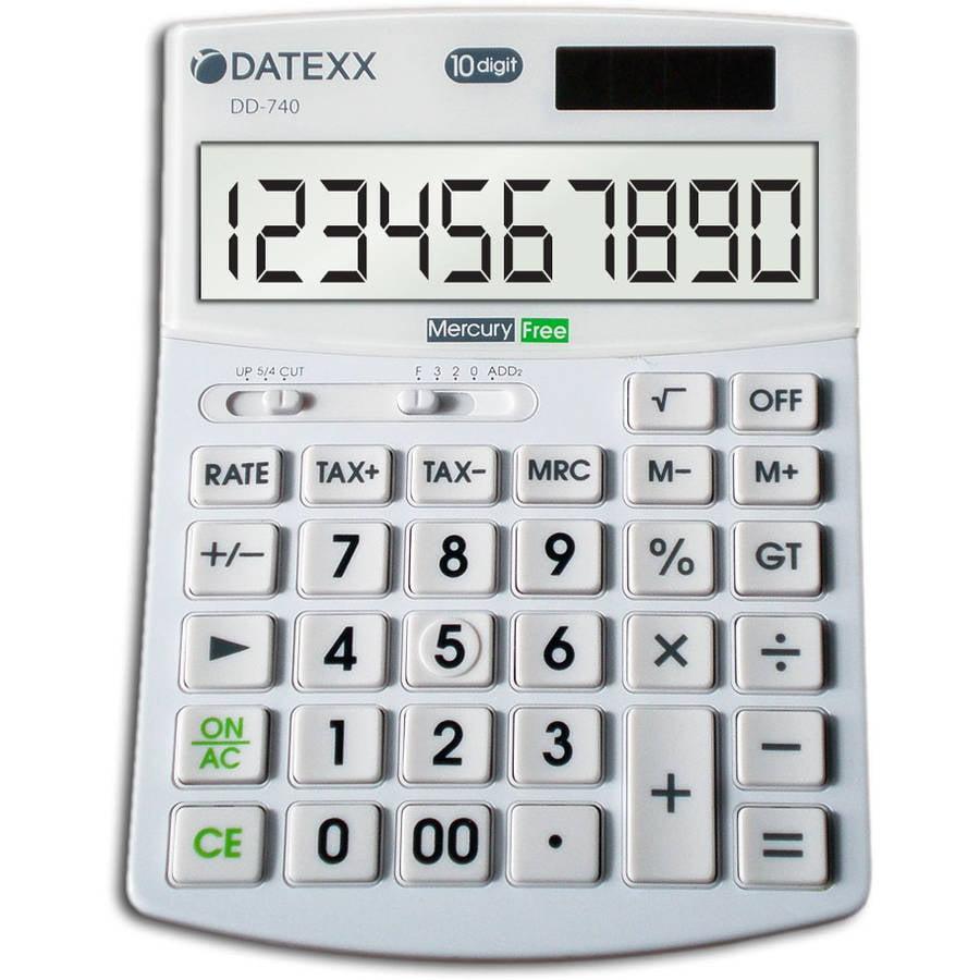 Datexx Hybrid Power 10-Digit Desktop Calculator